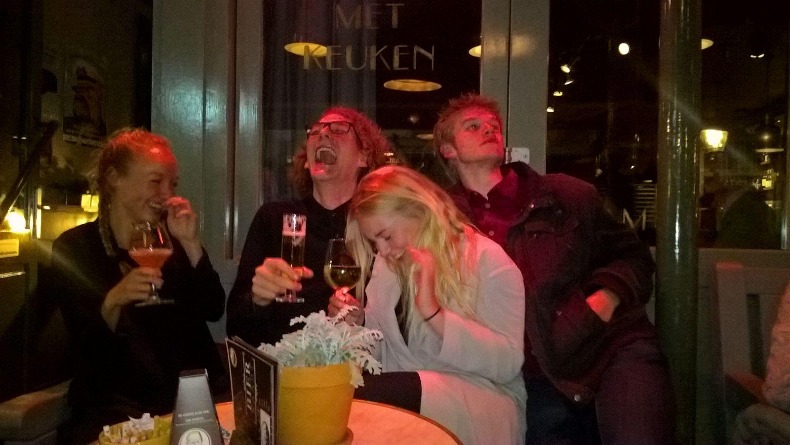v.l.n.r. Sophie, Thomas, Sanne en Douwe.