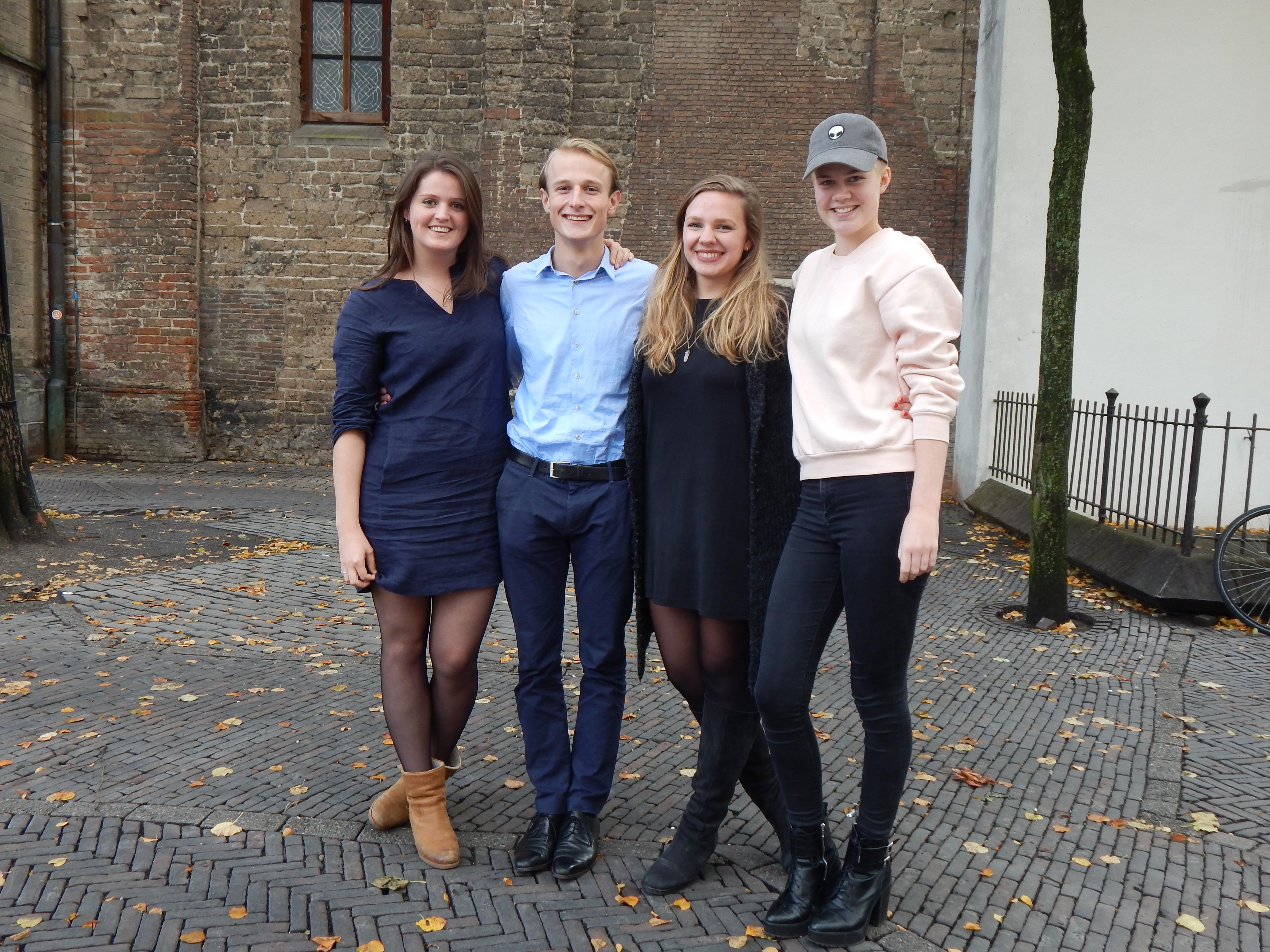 v.l.n.r. Marleen, Hugo, Eveline en Yvette