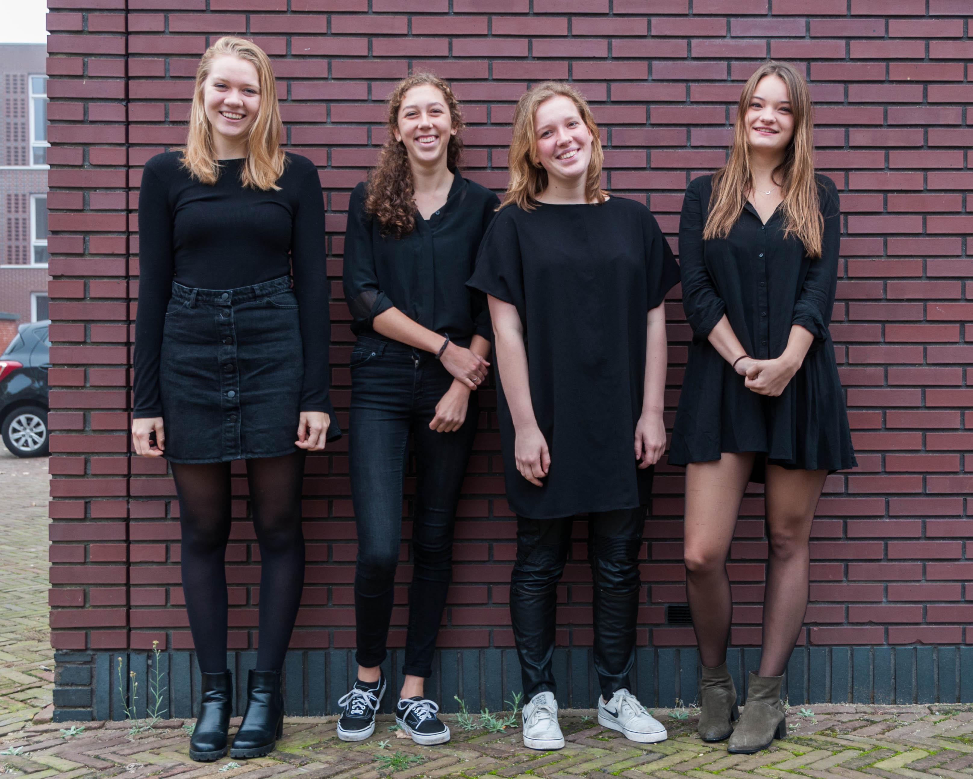 v.l.n.r. Lotte, Mara, Fiepke en Annemijn